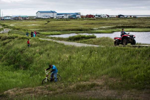 Rising Seas And Warming Temperatures Force Alaskan Coastal Community To Move Inland